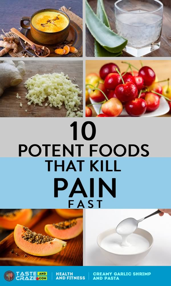 10 Potent Foods That Kill Pain Fast. These foods contain compounds that scientific reports are showing can block pain signals and fight chronic pain. #chronicpain #Painmanagement #PainRelief