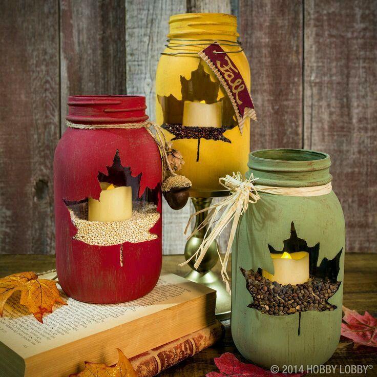 DIY Autumn Candle Jars