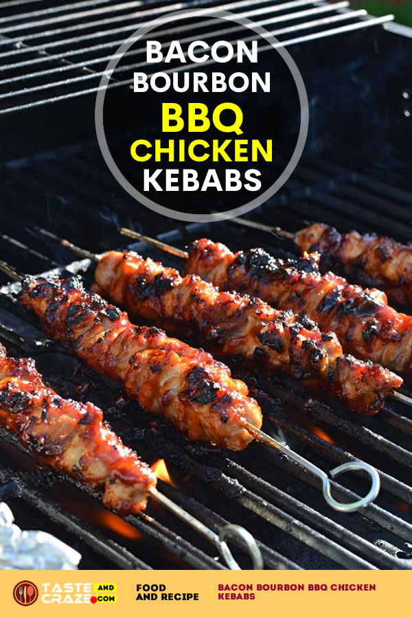 BBQ CHICKEN KEBABS- BACON BOURBON RECIPE. I once thought that recipes including bacon were pretty straight forward. You'd just fry up some meaty goodness in its own fat, crumble it up if you'd like, and mix it in.