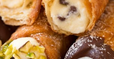 "#Cannoli Some of you may look at this recipe of cannoli filling, and say, ""no that's not how it's done. Cannoli filling is made with an all ricotta filling, no mascarpone, some orange zest and plenty of marsala."""