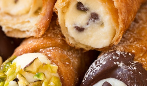 """#Cannoli Some of you may look at this recipe of cannoli filling, and say, """"no that's not how it's done. Cannoli filling is made with an all ricotta filling, no mascarpone, some orange zest and plenty of marsala."""""""