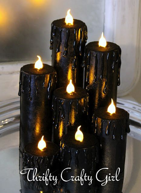 31 Days of Halloween - Faux Candles