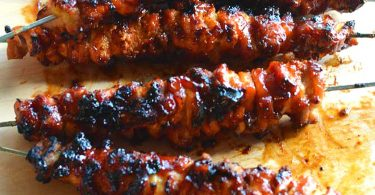 BBQ Chicken Kebabs- Bacon Bourbon Recipe