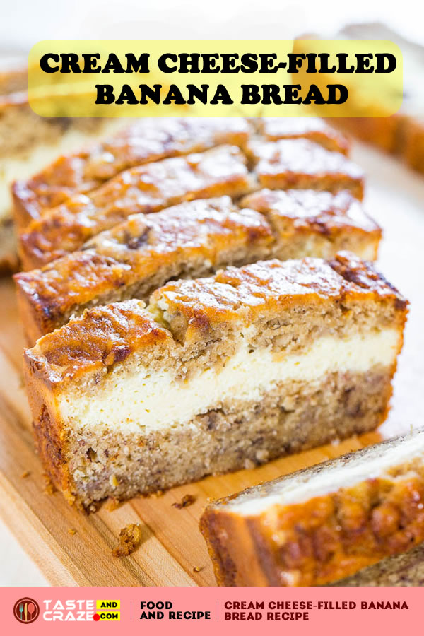 This Banana Bread with Cream Cheese is so moist and delicious. I essentially halved my most recent and favorite cream cheese banana bread recipe to date.. I love everything about that recipe except it makes two loaves and I knew one loaf of cream cheese-filled banana bread would be plenty.