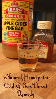 Apple Cider Vinegar Cold Remedy