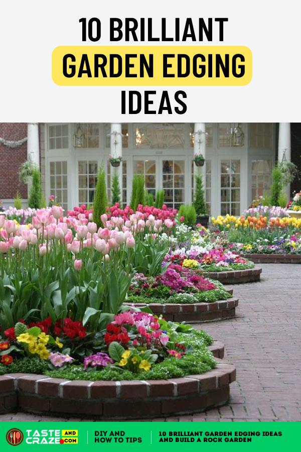 10 Brilliant Garden Edging Ideas #Garden #GardenEdging #GardenEdgingIdeas #GardenIdeas #gardenlook #traditionalgarden #edging #edgingoption #RockGarden Making your garden look beautiful using edging. Here are a few idea.