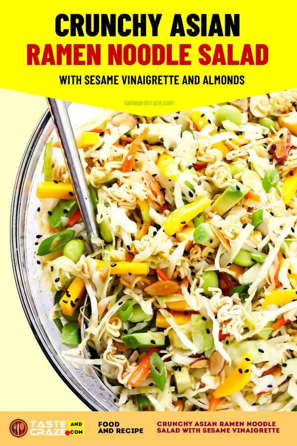 Crunchy Asian Ramen Noodle Salad #SideDishesSaladRecipes #SideDishesSalad #SideDishes #SaladRecipes #NoodleSalad