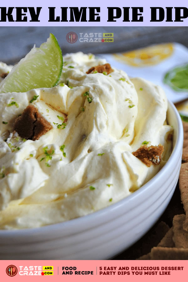 Key Lime Pie Dip. Another one of 5 Easy and Delicious Dessert Party Dips You must like. This cool, creamy no-bake Key Lime Pie Dip with bite sized pieces of key lime pie stirred right in was created as part of a compensated partnership with Collective Bias