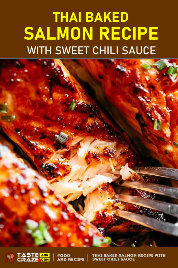 #Salmon #SalmonRecipe #ThaiRecipe Thai Salmon Recipe with easy healthy sweet chili sauce #chilisauce #ovenbaked in winter or #grilled on a #cedarPlank