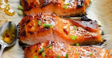 Thai Salmon Recipe with easy healthy sweet chili sauce