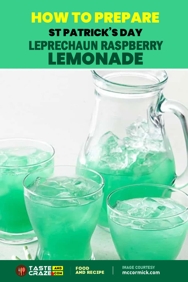 How to prepare St Patricks Day Leprechaun Raspberry Lemonade #PatricksDay #Leprechaun #Raspberry #Lemonade #RaspberryLemonade #FoodColor #mccormick
