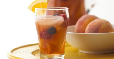PEACHY ICED TEA SANGRIA- A DELICIOUS SUMMER BERRIES