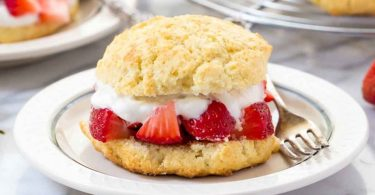 These lightly sweetened biscuit-type gluten free strawberry shortcakes are the perfect base for any type of fresh summer fruit