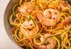Coconut lime shrimp with zoodles.
