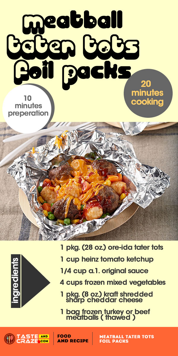 Meatball TATER TOTS Foil Packs
