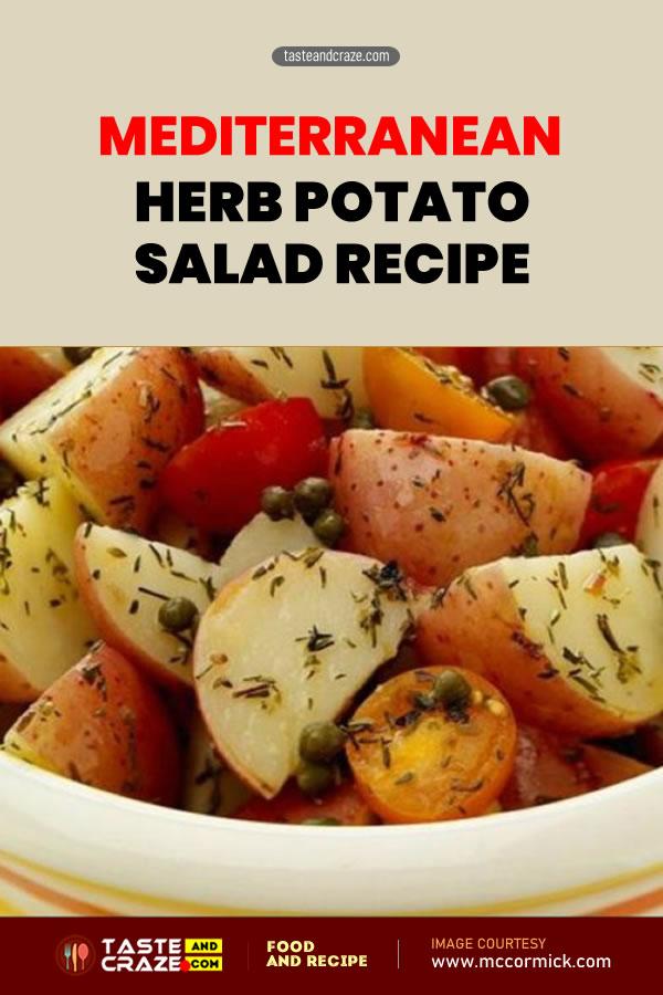 Mediterranean Herb Potato Salad Recipe #Mediterranean #Herb #PotatoSaladRecipe #PotatoSalad #PotatoRecipe #SaladRecipe #Salad #MediterraneanRecipe #MediterraneanRecipe #oliveoil #vinegar #whitewine #OreganoLeaves #Oregano #ThymeLeaves #Thyme #cherrytomatoes #cherry #tomatoes #cherrytomato