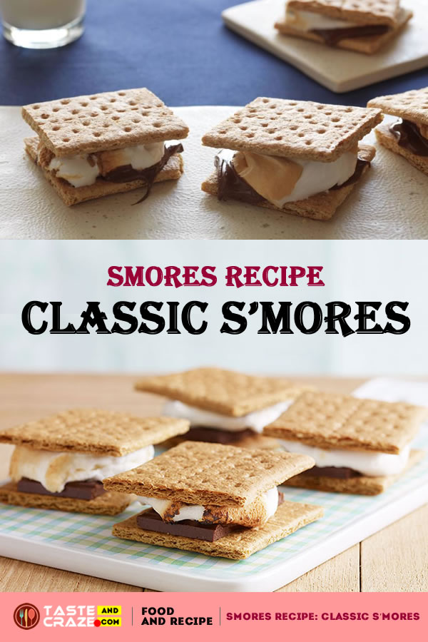 Smores Recipe: Classic S'mores For the perfect classic s'more you have to have melty chocolate, gooey toasty marshmallow and crisp graham cracker. There are a million ways to personalize a s'more using flavored chocolates, adding nuts or dried fruits or jams. Explore. Enjoy.