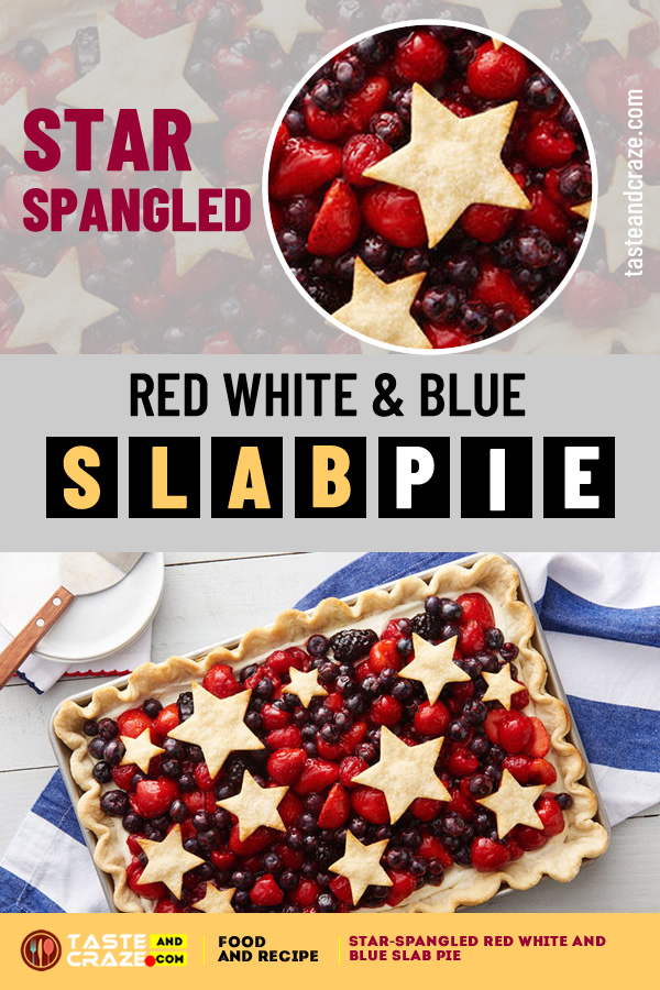 Star spangled red white and blue slab pie #SlabPie #Pie #StarPie #BlueSlabPie #RedSlabPie