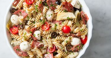 Enjoy the taste of the classic cocktail with our Bloody Mary Pasta Salad. Our Bloody Mary Pasta works perfectly into a brunch menu.
