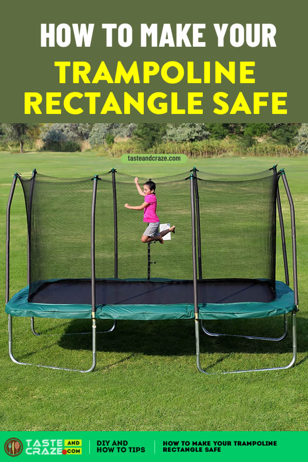 How to make your trampoline rectangle safe #trampolinerectangle #trampoline #trampolineinjuries