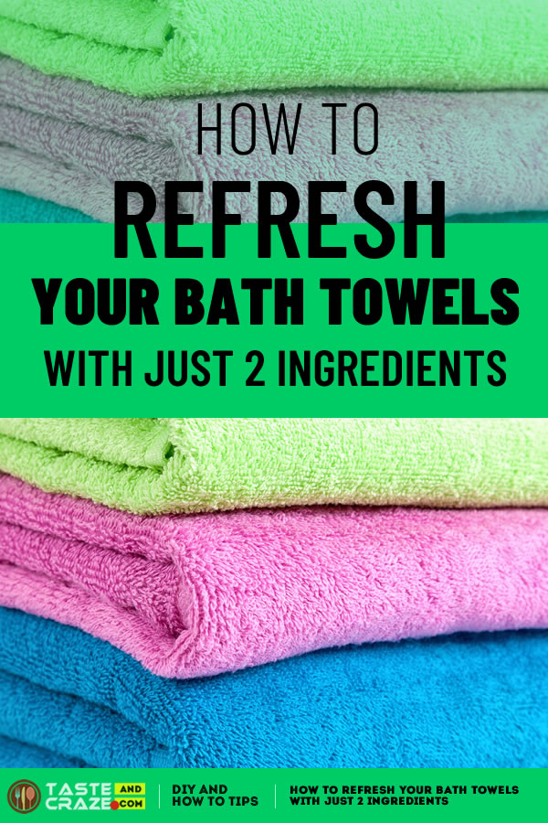 Refreshing your towels with #vinegar and #bakingsoda is right up my alley because they're my two favorite household cleaners.