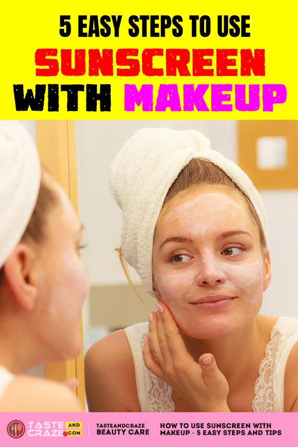 How to use sunscreen with makeup - 5 Easy steps. #Sunscreen #makeup #HowToUseSunscreen