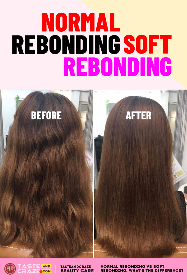 Hair rebonding before and after. #hairtreatments #hairrebonding #hairstyles #haircolor