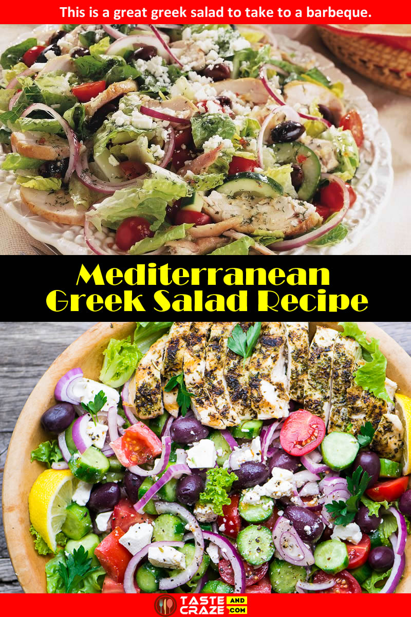 Mediterranean Greek Salad Recipe #Mediterranean #GreekSaladRecipe #GreekSalad #SaladRecipe #GreekRecipe #Salad