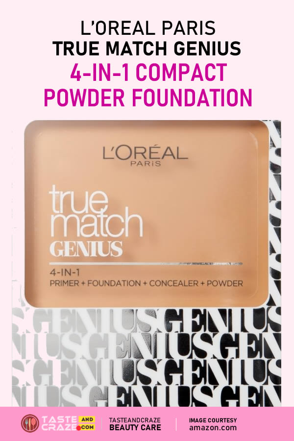 Top 5 Powder Foundations For Oily Skin- L'Oreal True Match Genius 4 in 1 Compact Foundation #PowderFoundations #PowderFoundation #Foundations #Foundation #LOreal #OilySkin #skinCare #TrueMatch #CompactFoundation
