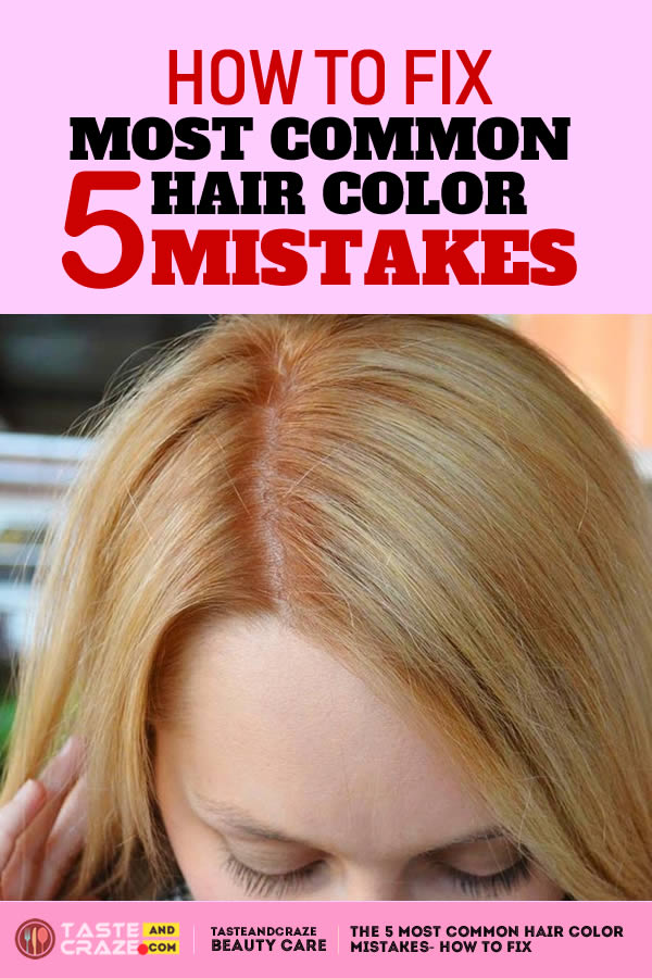 THE 5 MOST COMMON HAIR COLOR MISTAKES- HOW TO FIX. The comfortable news is that hair coloring mistakes can be unlimited often from habitat, and often fairly easy.