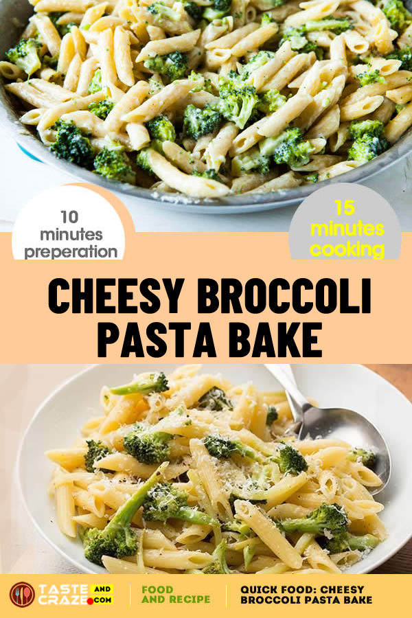 Quick Food- Cheesy broccoli pasta bake. #QuickFood #CheesyBroccoliPastaBake #CheesyBroccoli #BroccoliPastaBake #BroccoliPasta #PastaBake
