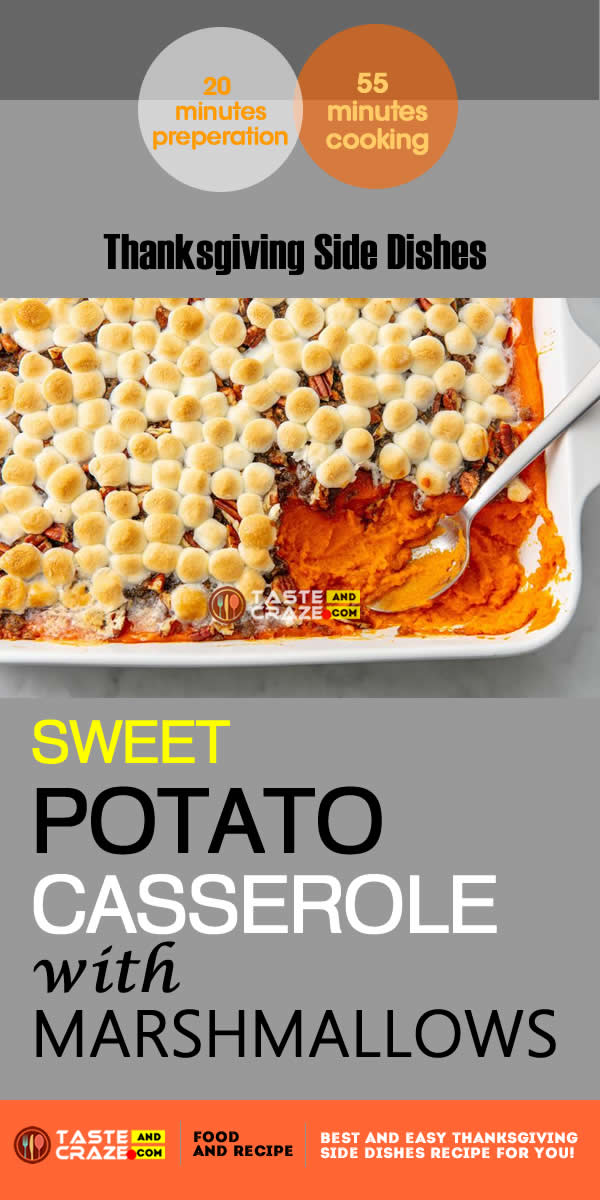 Thanksgiving side dishes-Sweet Potato Casserole With Marshmallows