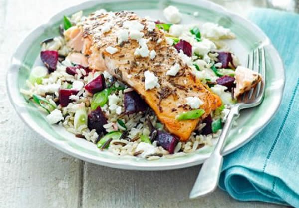 Quick Food: Salmon With Beetroot, Feta & Lime Salsa