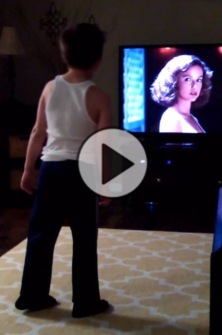 Charlie vs Swayze: Watch this kid bust a move to the movie 'Dirty Dancing'. This kid is having the time of his life reenacting a famous dirty dancing scene