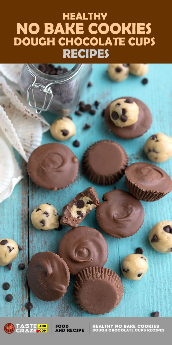 Healthy no bake cookies- For a detailed Instruction for Healthy No Bake Cookies Dough Chocolate Cups recipes, please visit the link.