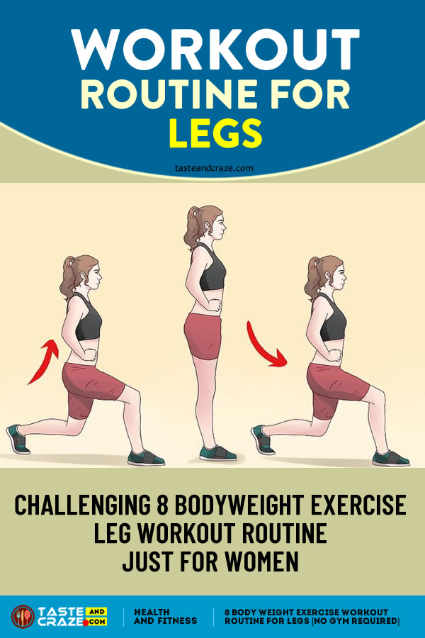 Workout routine for legs 8 Body Weight Exercise No Gym Required. #WorkoutRoutine #Workouts #WeightExercise #LegsExercise #WorkoutForLegs