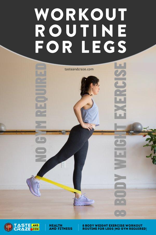 #WorkoutRoutine for legs 8 Body Weight Exercise, No Gym Required. #Workouts #WeightExercise #LegsExercise #WorkoutForLegs