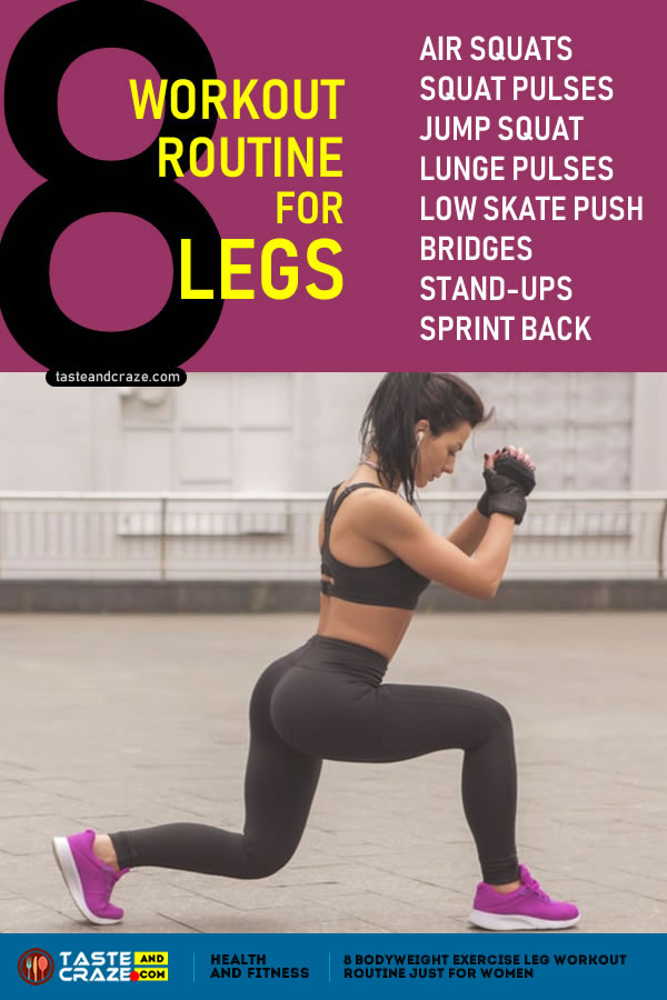 8 body weight exercise workout routine for legs [no gym required] #BodyWeightExercise #WeightExercise #WorkoutRoutine #workout