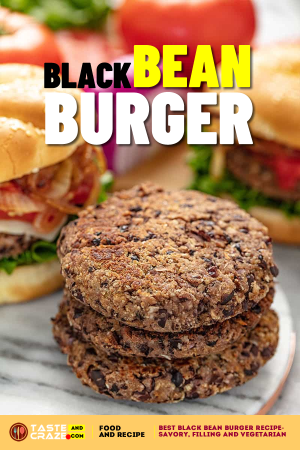 Best Black Bean Burger Recipe- Savory, Filling and Vegetarian. Black Bean Burgers are an innocent choice for lighter fare at your backyard BBQ . #BestBlackBeanBurgerRecipe #BestBlackBeanBurger #BlackBeanBurgerRecipe #BlackBeanBurger #BurgerRecipe #Burger
