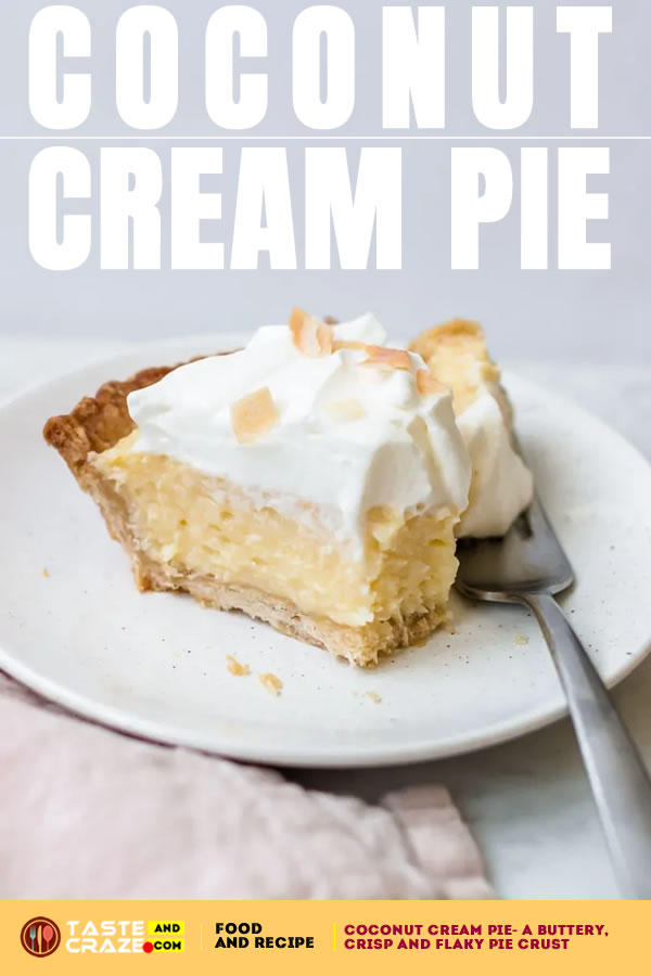Coconut Cream Pie is a classic dessert for anyone who loves the flavor of coconut. It's similar to Banana Cream Pie recipe. Though, It uses coconut milk and dried coconut in the pastry cream filling to give it a refreshing burst of coconut flavor.