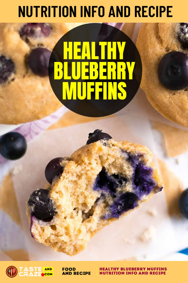 Healthy Blueberry Muffins Nutrition Info and Recipe. An easy recipe for buttery muffins full of big juicy berries. They have the same texture as cupcakes—but none of the guilt! These truly are the best.