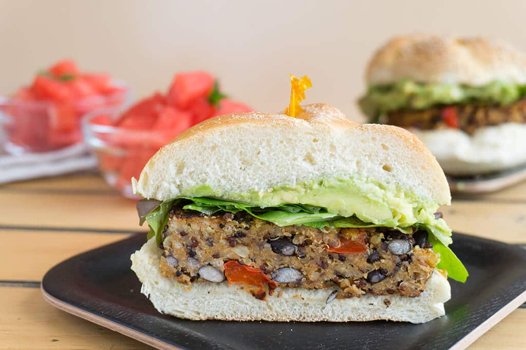 Black Bean Burger Recipe- These are savory, filling and vegetarian. The perfect substitute for a regular beef patty and delicious and healthy to boot!