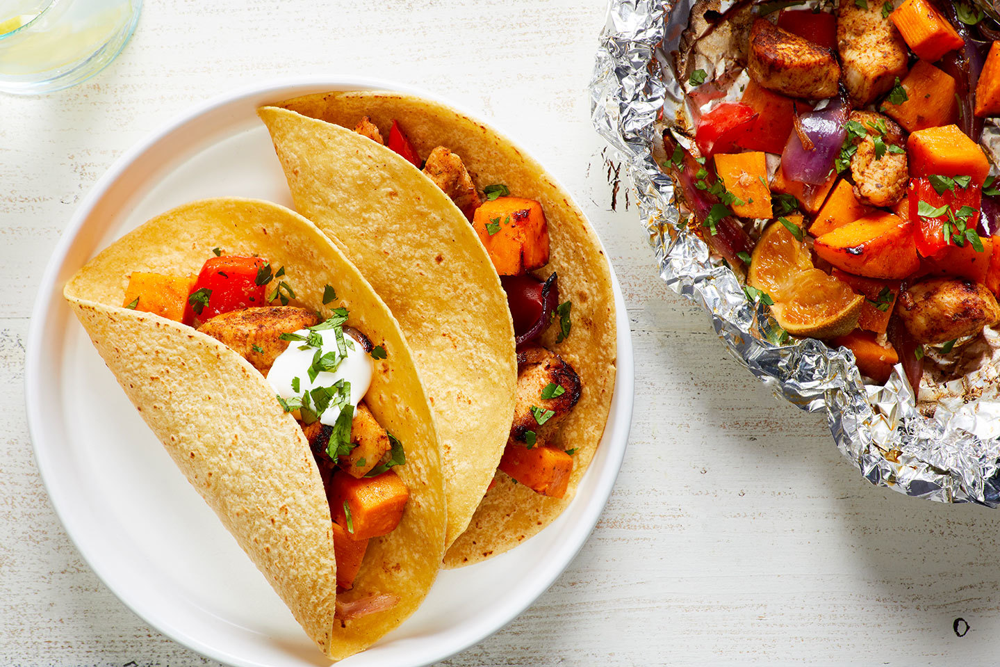 Chicken and sweet potato grill packets