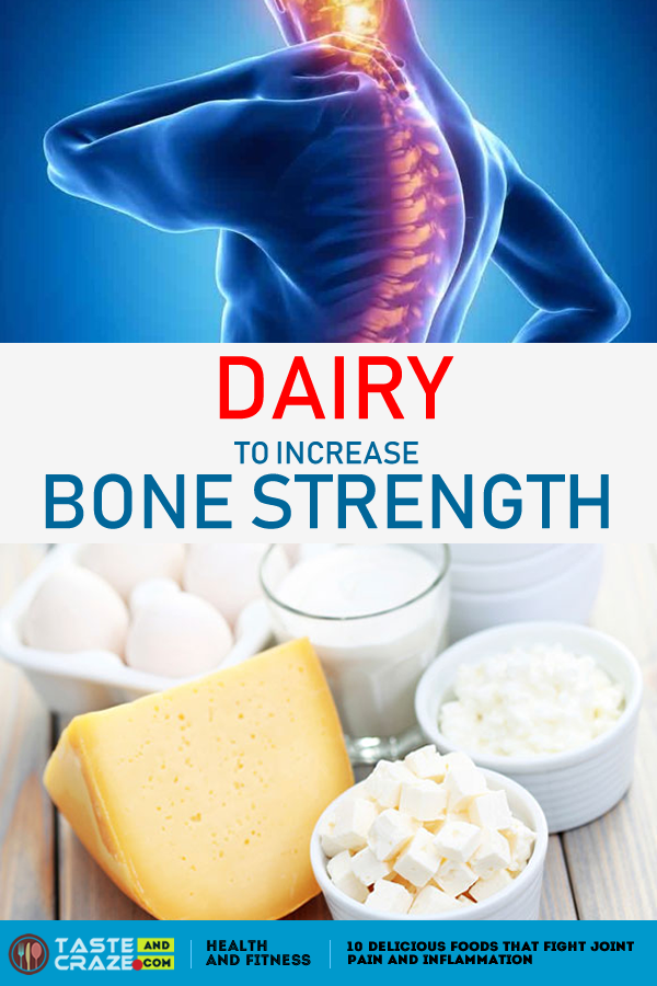Dairy like #milk, #yogurt and #cheese are packed with #calcium and #vitaminD, increase #BoneStrength.