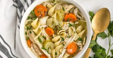 homemade chicken noodle soup is surprisingly simple and requires very little hands-on time!