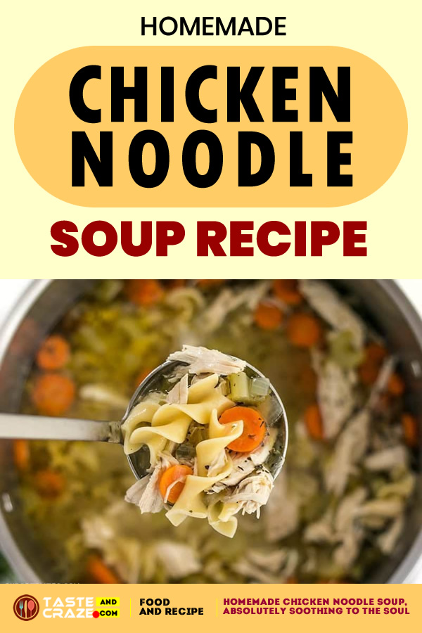 #ChickenSoup #NoodleSoup #HomemadeSoup #HomemadeChickenSoup #ChickenNoodleSoup Homemade Chicken Noodle Soup.