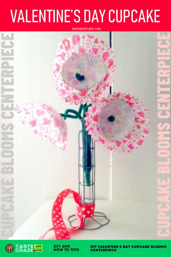#DIY #ValentinesDay #CupcakeBlooms DIY Valentine's day cupcake blooms centerpiece #ValentinesDayCupcake #centerpiece #BloomsCenterpiece