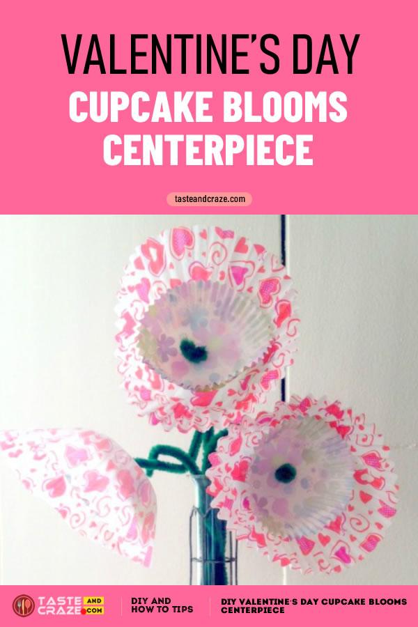 DIY Valentine's day cupcake blooms centerpiece #DIY #ValentinesDay #ValentinesDayCupcake #CupcakeBlooms #centerpiece #BloomsCenterpiece