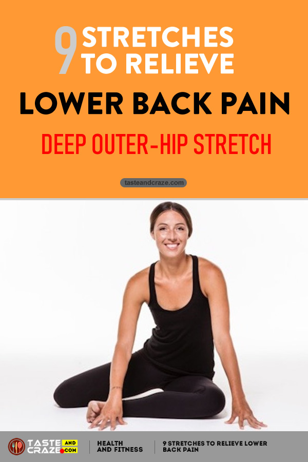 Deep Outer-Hip Stretch with Twist - 9 Stretches to Relieve Lower Back Pain #LowerBackPain #BackPain #LowerPain #PainRelieve #Yoga #StretchestoRelievePain #RelievePain #DeepOuterHip
