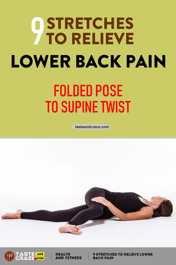 Folded Pose to Supine Twist - 9 Stretches to Relieve Lower Back Pain #LowerBackPain #BackPain #LowerPain #PainRelieve #Yoga #StretchestoRelievePain #RelievePain #FoldedPose